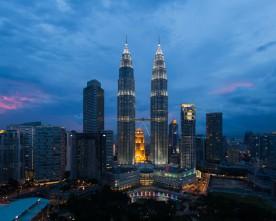 Uitzicht op Petronas Twin Towers