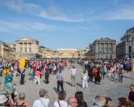 Drukte in het Kasteel van Versailles