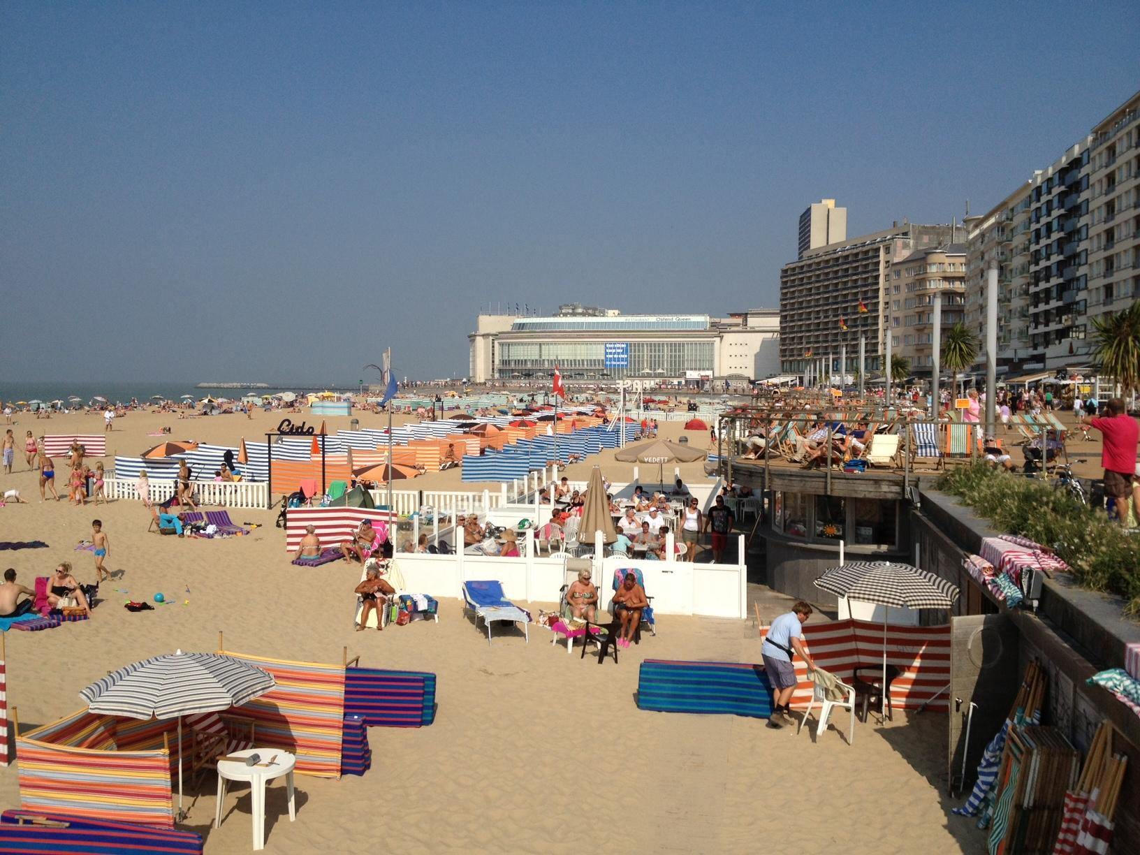 Heerlijk weer aan de Belgische kust