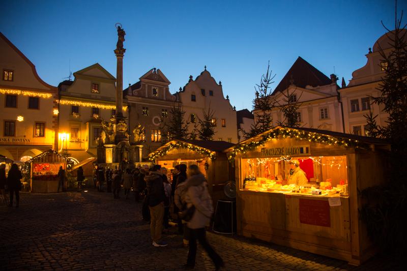 Sfeervolle kerstmarkt Český Krumlov