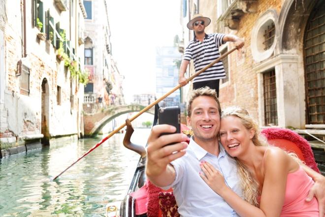De gondels van Venetië