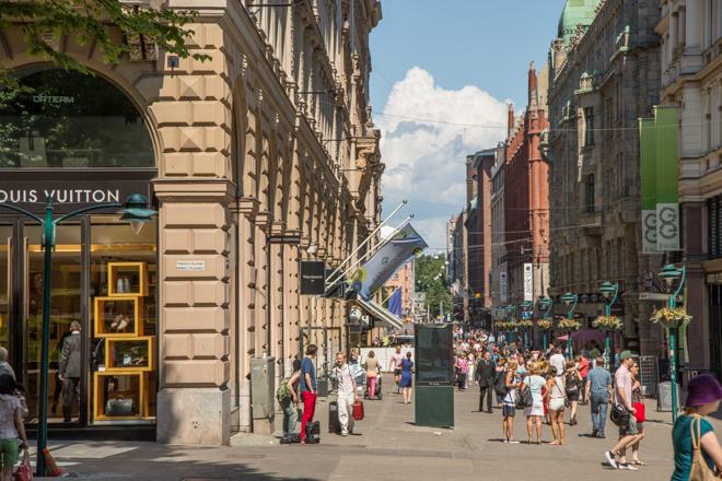 Helsinki winkelstad