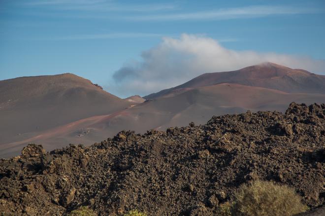 De vulkanische landschappen van Lanzarote