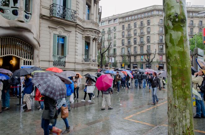 Wachtrijen voor Gaudi