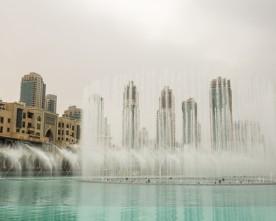 De prachtige Dubai Fontein