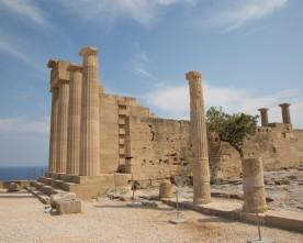 De Akropolis van Lindos bezoeken