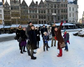 Sfeervolle winterwandeling door Antwerpen
