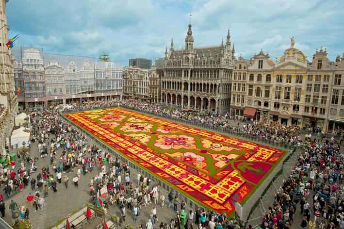 Bloementapijt Brussel 2016