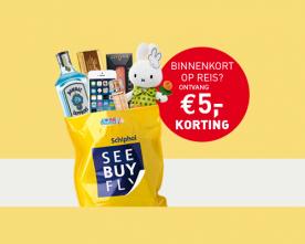 € 5 cadeau bij tax free winkelen Schiphol