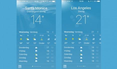7 graden verschil in dezelfde stad