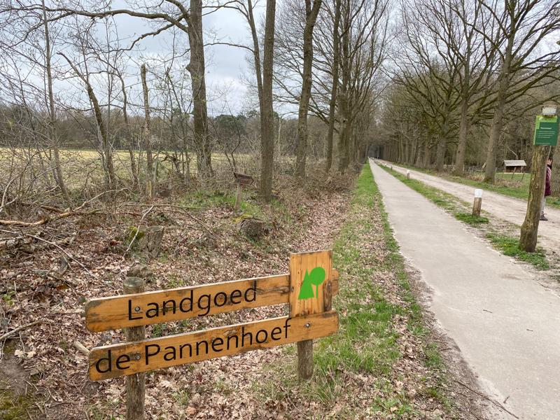 Blauwe wandelroute over de Pannenhoef